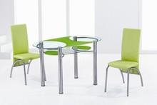 2014 diseño nuevo y de moda de vidrio templado mesa de comedor