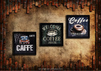 Hot Selling Handmade Wall Cafe Painting With Plastic Frame