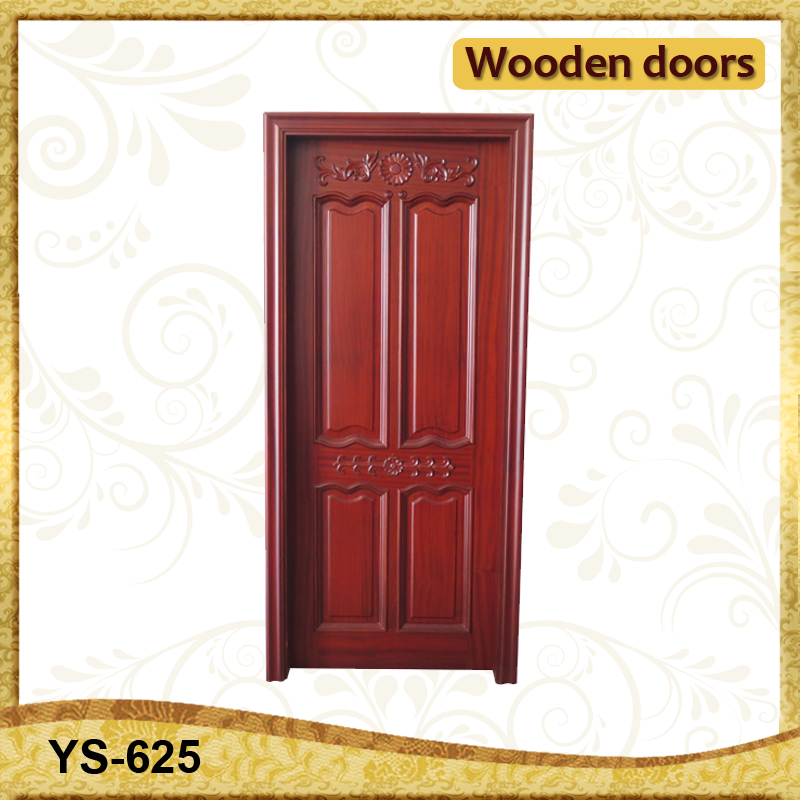 4 vertical solid wood flat teak wood main door designs for Designs for main door of flat