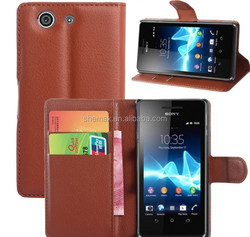 PC Material shock resistant for Sony Z3 Compact Leather Case