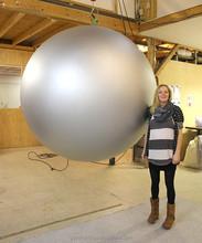 Giant inflatable Aluminium ball 2m for event/ mega balloon