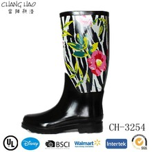 2015 Hot Sale Cheap Lady Flower Printing Wellington