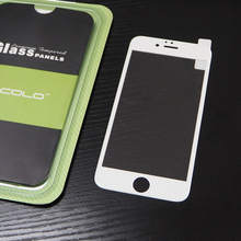 White 0.33mm 3D Full Cover Screen Protector Guard For Iphone 6plus 5.5inch With Mocolo Packaging