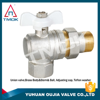 TMOK High Quality 90 Degree brass angle ball valve