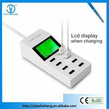 Shenzhen usb charging station mobile phone 8 port usb power charger with UK/EU/US plug