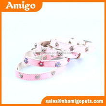 made in china new design real leather do pet products,rhinestone dog pet products,diamond dog pet products