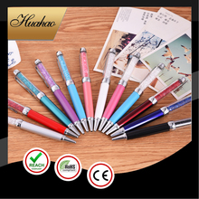 Good Quality Small MOQ Colorful Multi-functional Ballpoint Pen With Colorful Crystal and Touch Screen Pen/Crystal Pen