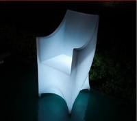 LED Plastic furniture Led sofa/ Shining bar sofa