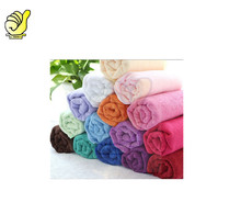 wholesale 100% polyester microfiber Towel ,solid color dyed car drying towel and hair dry bath towel with factory price