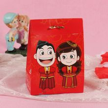 Trade assurance red wedding favor boxes