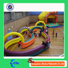 Amusing electric race car inflatable air track for kids, inflatable race track for sale