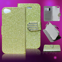 Brand New Luxury Rhinestone Bling Stand Wallet Leather Phone Case Cover With Card Holder For iPhone 6