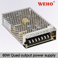 New product! 60W Quad output switching power supply 12v 60w power supply led