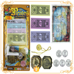 Wholesale pirate toy kids pirate coins and weapons toy