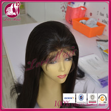 Hot Beauty romantic full lace wig from qingdao seller swatch natural color black fulfilled straight brazilian hair