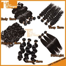 Hot Selling Alibaba Grade 5A+ Hair Weft Natural Color #1B Unprocessed Virgin Brazilian Hair