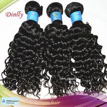 100% del pelo humano que teje la onda profunda brasileña