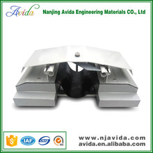 Concrete slab roof expansion joint covers in building construction materials