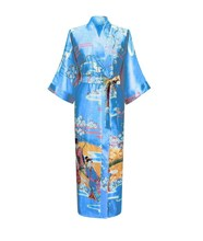 Good quality hot sell silky satin kimono robe