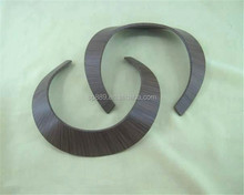 Durable wood grain texture necklace resin plastic necklets jewelries handmade in high quality