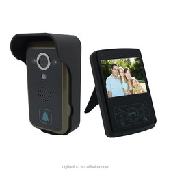 3.5 Inch TFT Color LCD Monitor + 1 Camera Wireless Video Door Phone Bell View Intercom System for Home Security