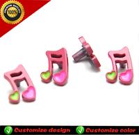 Attractive music design ladies steel buckle for shoe