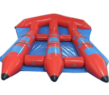 2016 fashion towable water tubes,inflatable flying manta ray,inflation water games crazy water games