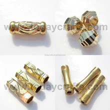 Round metal Copper engraved bead for DIY jewellery findings manufacture