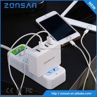 CE,RoHS,FCC Approved universal cell phone battery charger ,OEM quick deliver power sockets for Iphone Samsung
