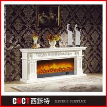 custom made fake flame plastic fireplace mantle