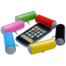 Easy carry mini mobile phone speaker via 3.5mm jack