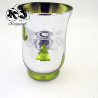 New designed factory crystal cut glass candle holder