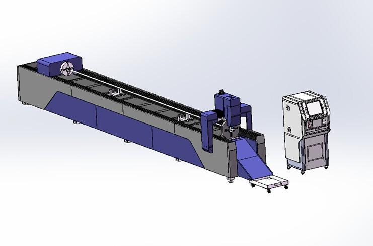 Metal laser tube cutting machine