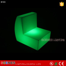 recharge led outdoor colorful led bar chair