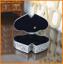 Double heart diamond carved vines with music octave upscale princess jewelry box Valentine's Day gift 292L-YP