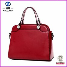 Famosa exportación color rojo vintage mujeres bolso de mano
