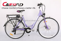 The New Comfort Classic Purple Electric Bicycle