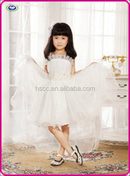Lovely white baby girl wedding dress for flower girl princess long tail wedding dresses whoelsale