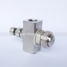 Air atomizing fog water nozzle