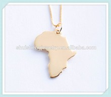 Hot sale stainless steel unique design rose gold map designer african necklaces