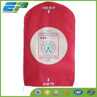 Customized hot pink color suit cover and laundry bag optional use