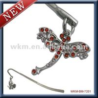 butterfly crystal bookmark metal