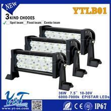 7.5inch cheap aluminum housing 36W straight led light bar in china