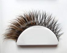 mixed fur fox with mink false eyelash thick individual eyelash premium false eyelash