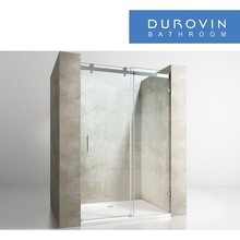 6-10mm Tempered Glass hinged Bathroom Shower screen Enclosure in Europe from China