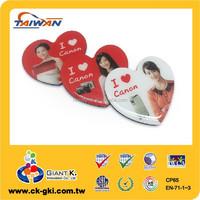 Customized OEM heart shape resin epoxy fridge magnet