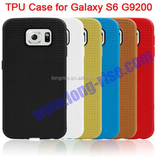 2015 Newest Anti-scratch Waffle Pattern TPU Case for Galaxy S6 G9200