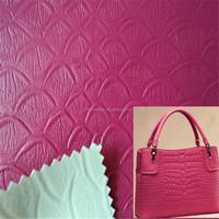 Europe fashionable grain pvc bag leather for making woman bags DG047