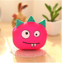 0187 small candy color change animal cartoon bag Wallets creative cute girls silicone coin bag wholesale dragon strange pink pig
