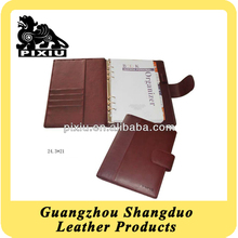 New Promotion A5 Size Leather Notebook Cover With Belt Closure